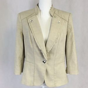 WHBM Tan Gorgeous Blazer